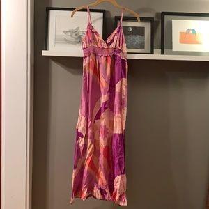 NWT Anthropologie silk maxi slip dress